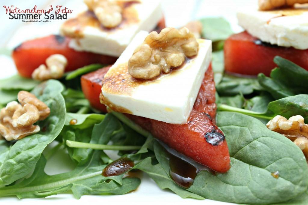 Grilles Watermelon and Feta Salad #FireUpTheGrill #Recipe idea