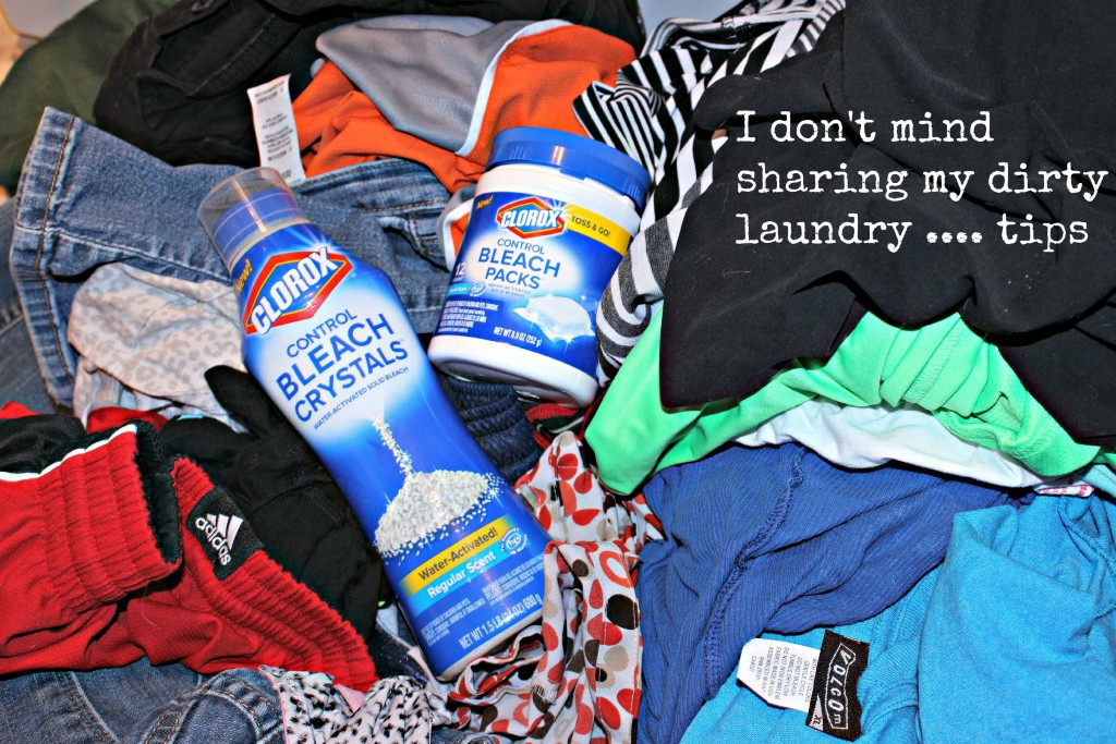 I don't mind sharing my dirty laundry  tips #TotalBleackControll