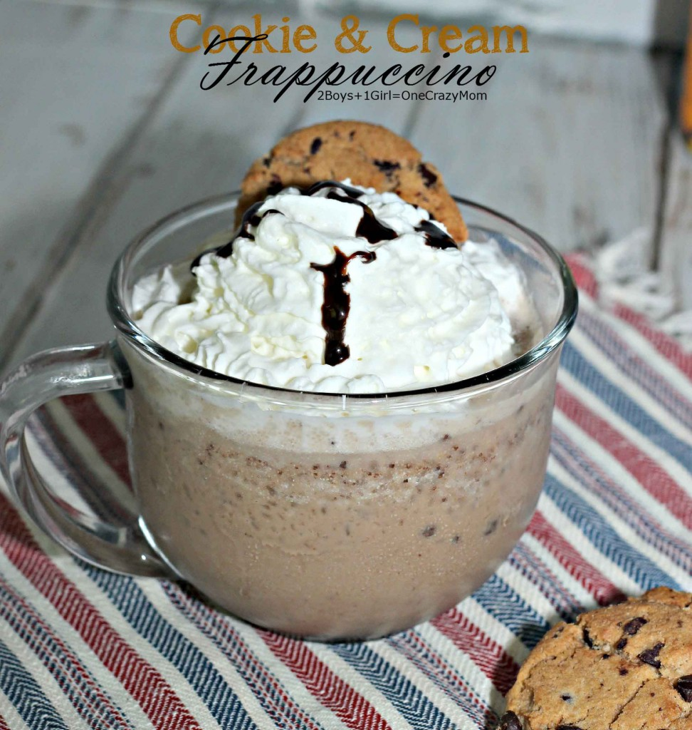 Cookie and Cream Frappuccino is an #InspiredStart into the day