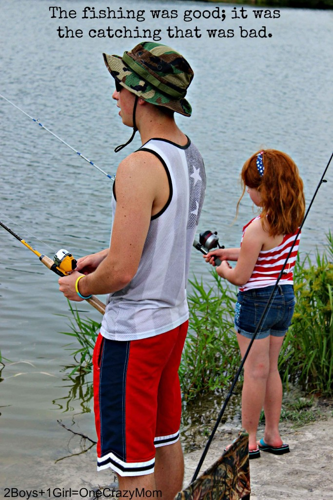 Kids get along so well when we are out fishing