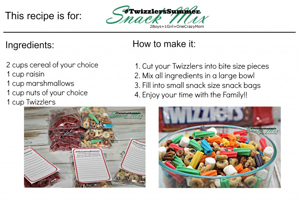Make a Snack Mix #TwizzlersSummer for your road trips