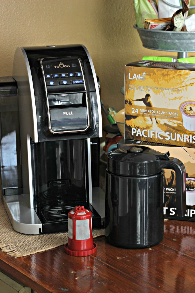 One Touch Coffeemaker makes my morning routine easy