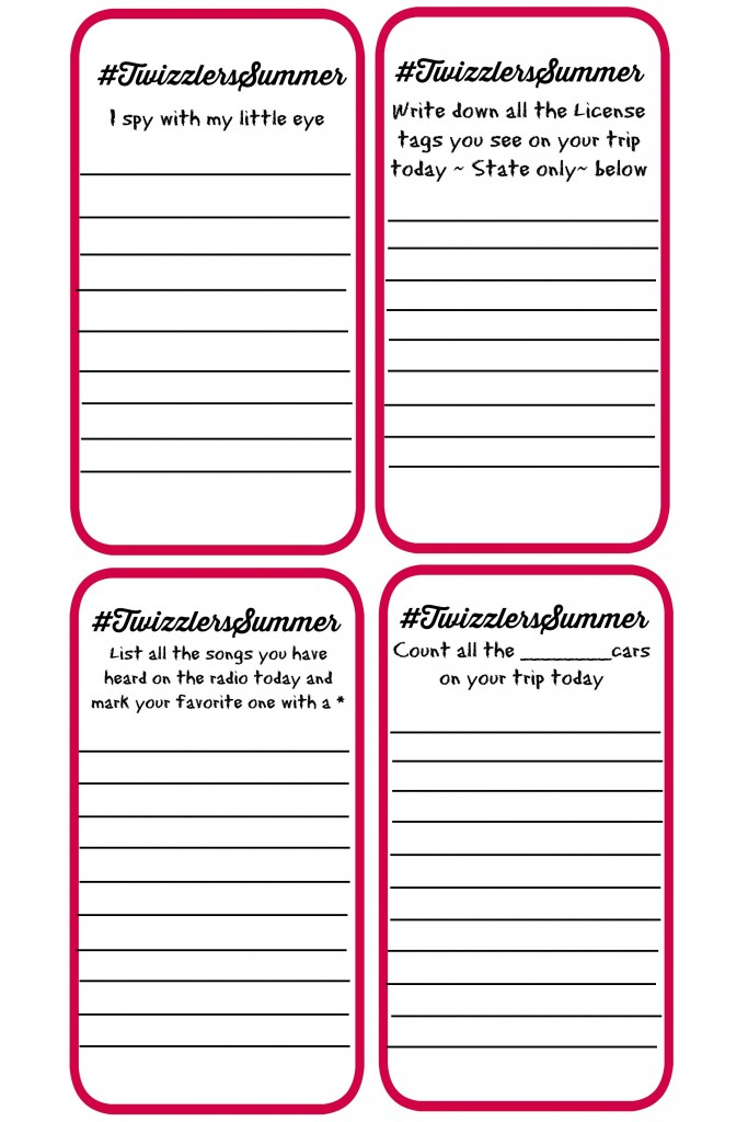 #TwizzlersSummer printable game sheet