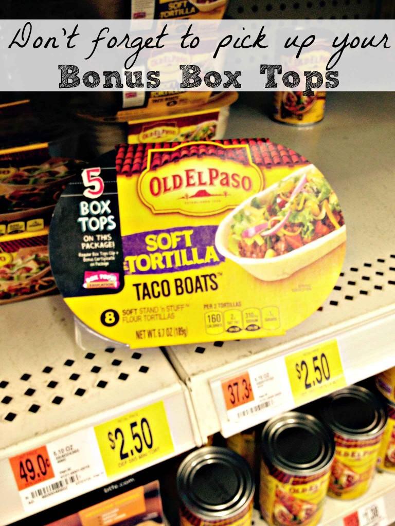 Bonus Box Tops at Walmart #BTFE