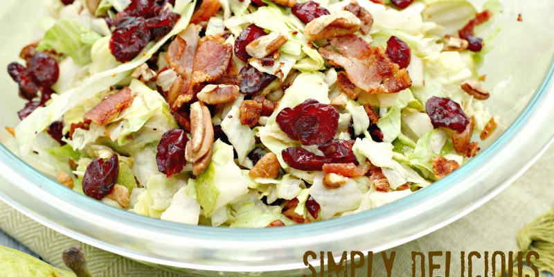 Simply Delicious Chopped Fall Salad #Recipe
