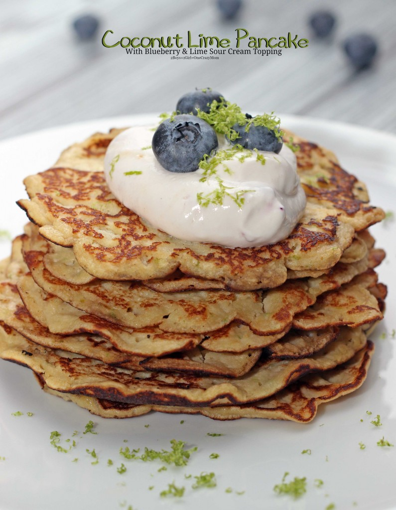 Gluten Free Coconut Lime Pancakes for dinner #Recipe