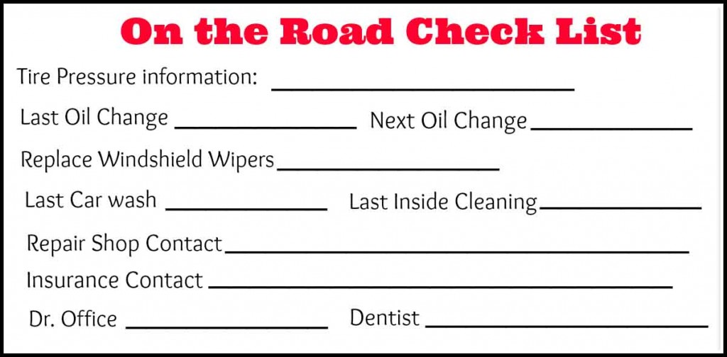 On the Road Checklist for teens #1stImpressionsCount