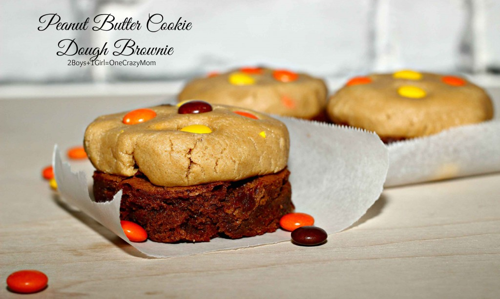 Peanut Butter Cookie Dough Brownie #Recipe is simple but so good