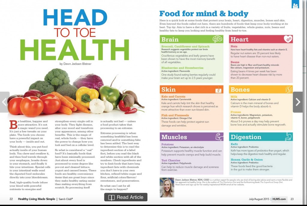 Sams Club Healthy Simple Magazine