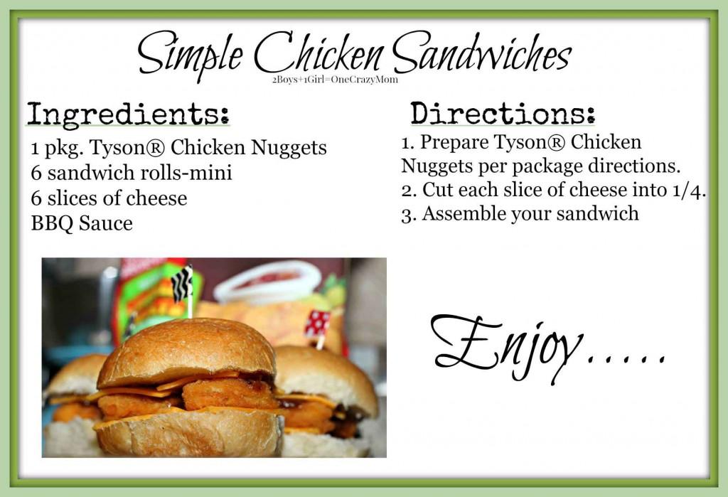 Simple Chicken Sandwich #Recipe