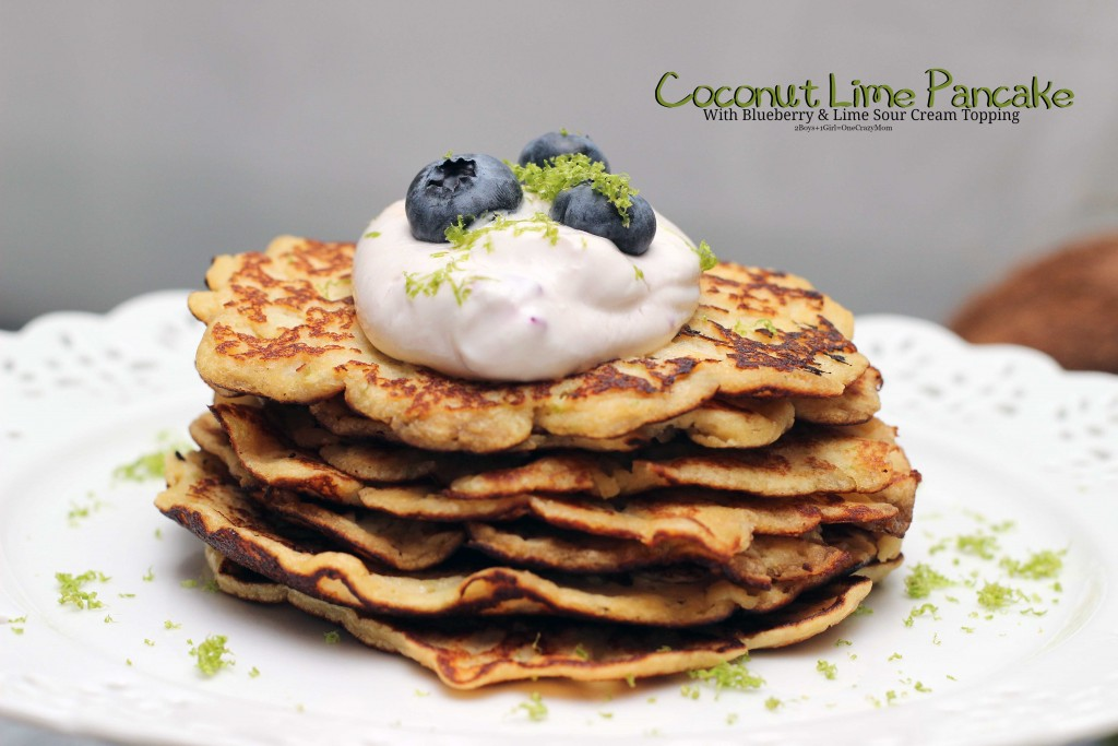 Simple Coconut Lime Pancakes #Recipe