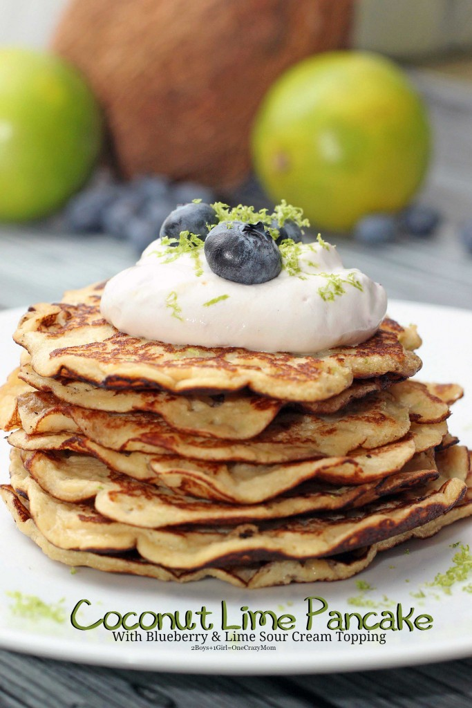 Simple Coconut Lime Pancakes are so healthy and gluten free  #recipe