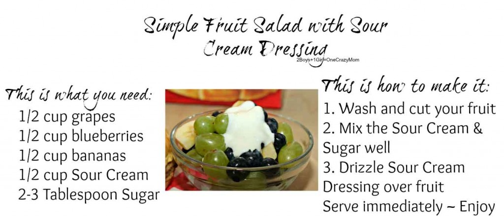 Simple Fruit Salad with Sour Cream Dressing #Recipe