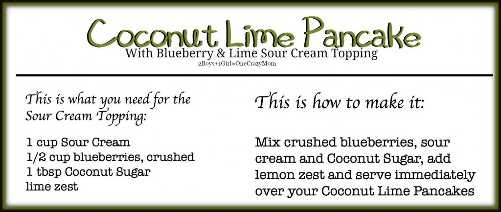 Sour Cream topping for the Coconut Lime Pancake #Recipe