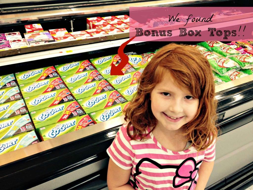 We love the Bonus Box Tops at Walmart