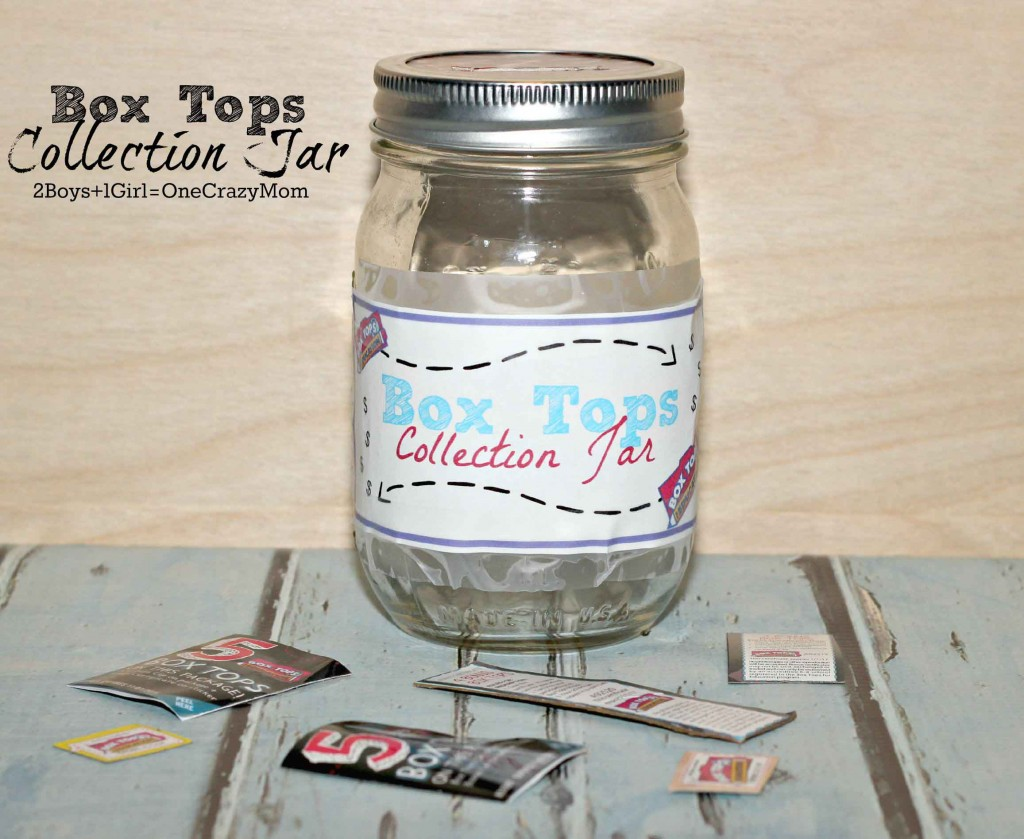make your own #DIY Box Tops Collection Jar