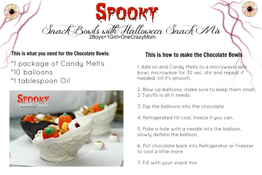 Create your own Spooky Chocolate Bowls #CreativeHope #Recipe card