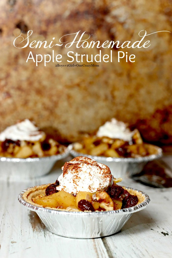 Semi Homemade Apple Strudel pie recipe idea #EffortlessPies