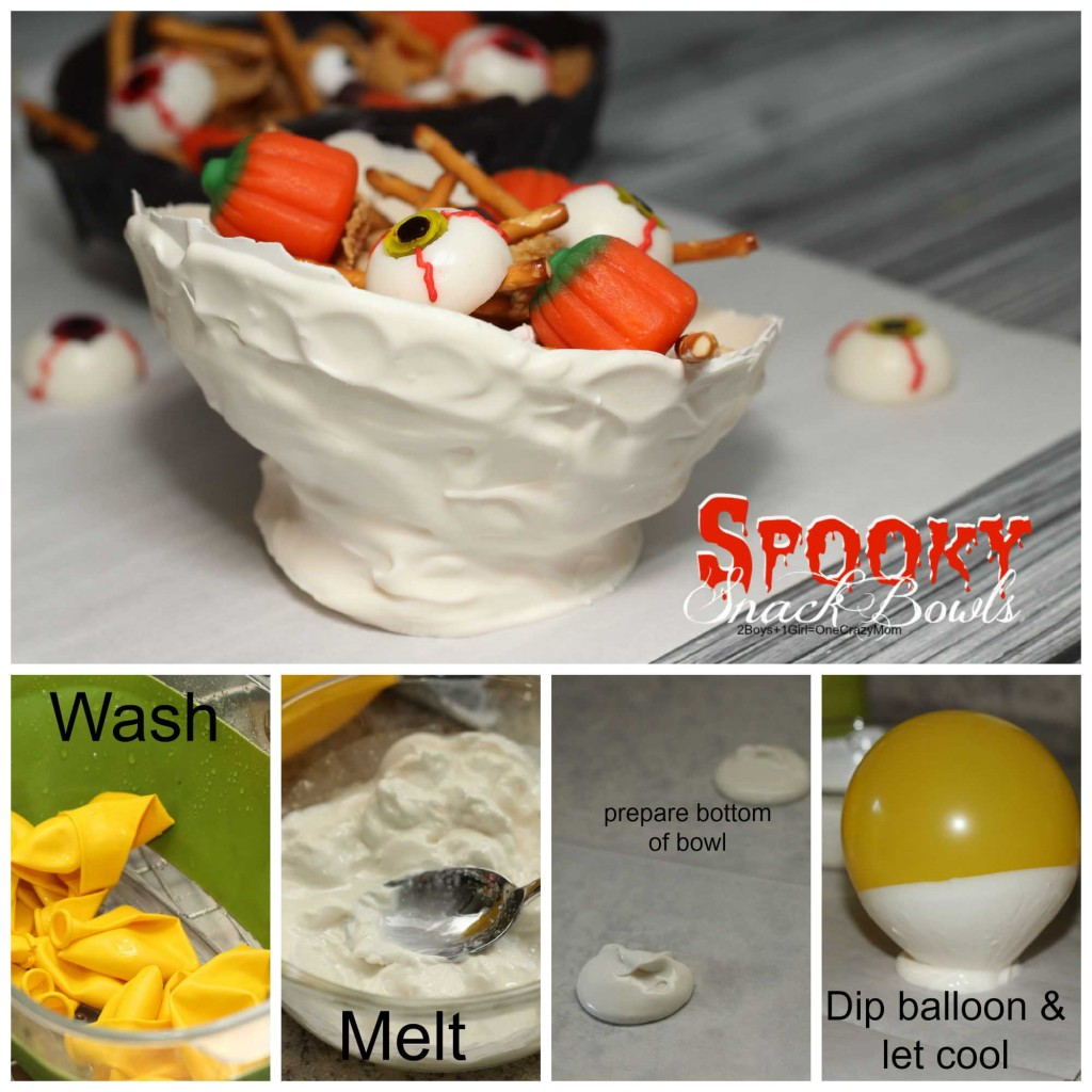 this is how to make your Spooky Snack bowls #CreativeHop #Recipe idea