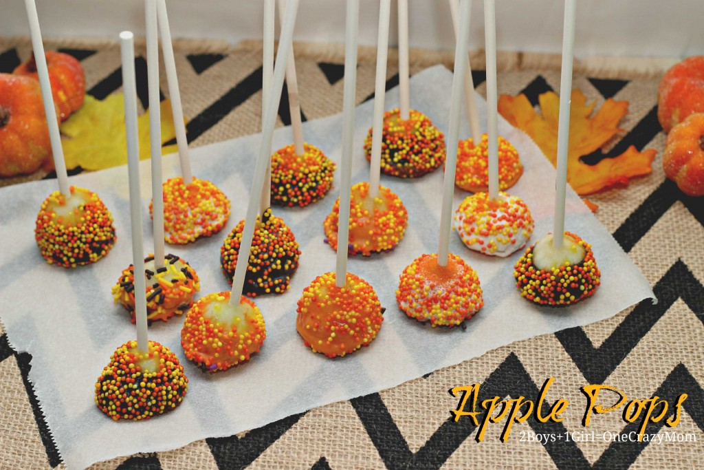 Mini Chocolate Apple Pops #Recipe