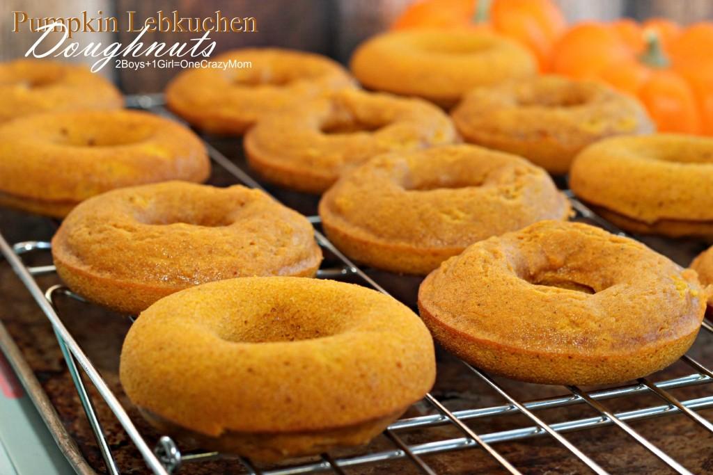 Pumpkin Lebkuchen Doughnuts #Recipe