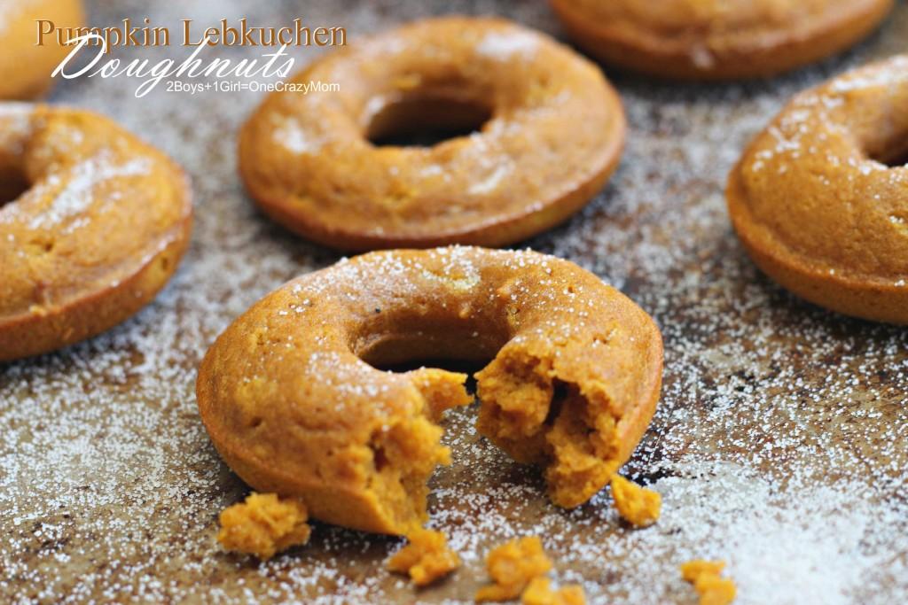 Pumpkin Lebkuchen Doughnuts #Recipe #CreativeHop