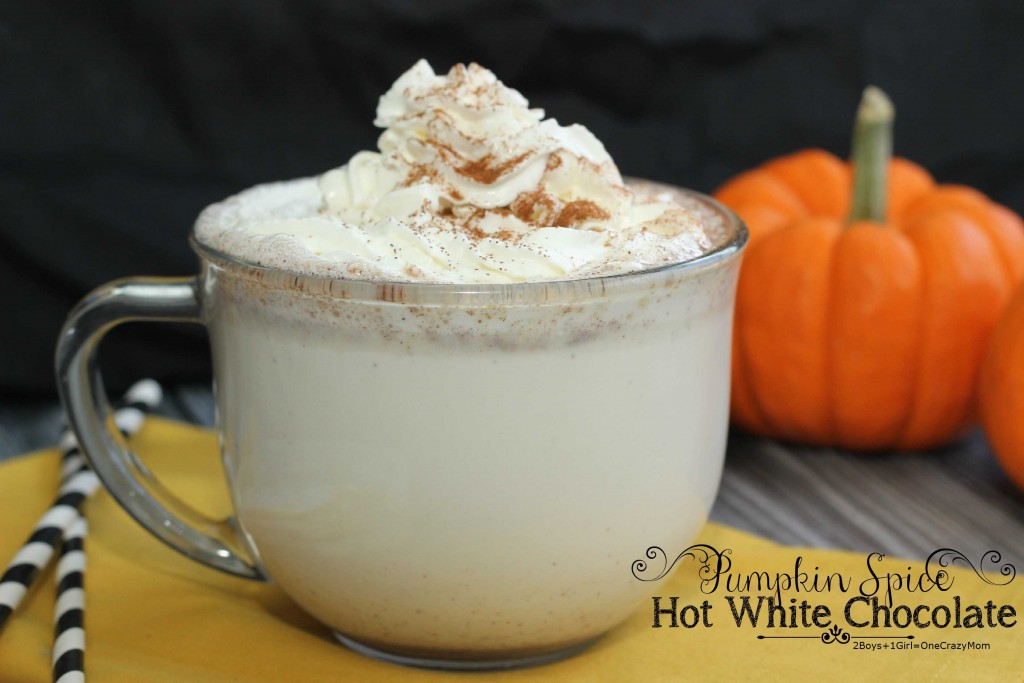 Pumpkin Spice hot White Chocolate milk #Recipe