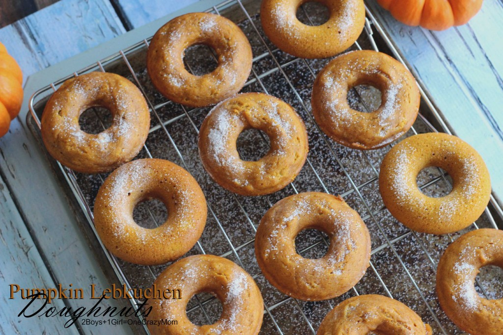 Simple Pumpkin Lebkuchen Doughnuts #CreativeHop #Recipe