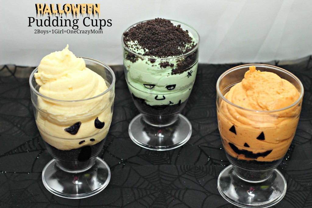 Spooky Halloween Pudding Cups #Recipe