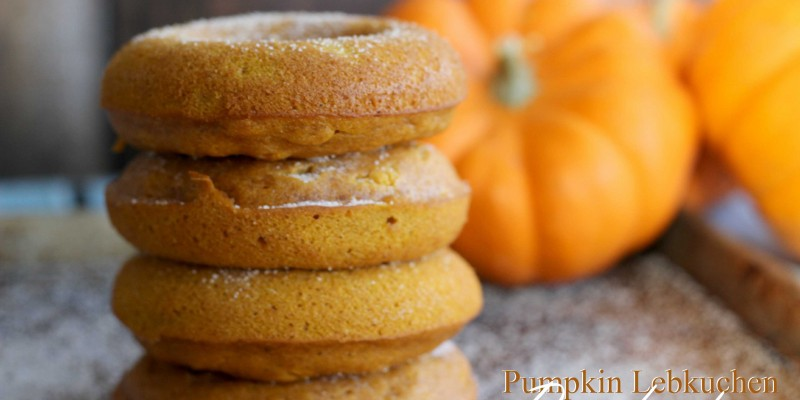 Sharing my Pumpkin Lebkuchen Doughnuts #Recipe