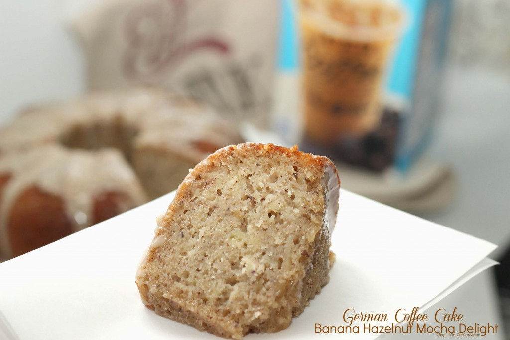 Enjoy your  Iced Coffee all year long and make this delicouse German Coffee Cake Recipe #FoundMyDelight