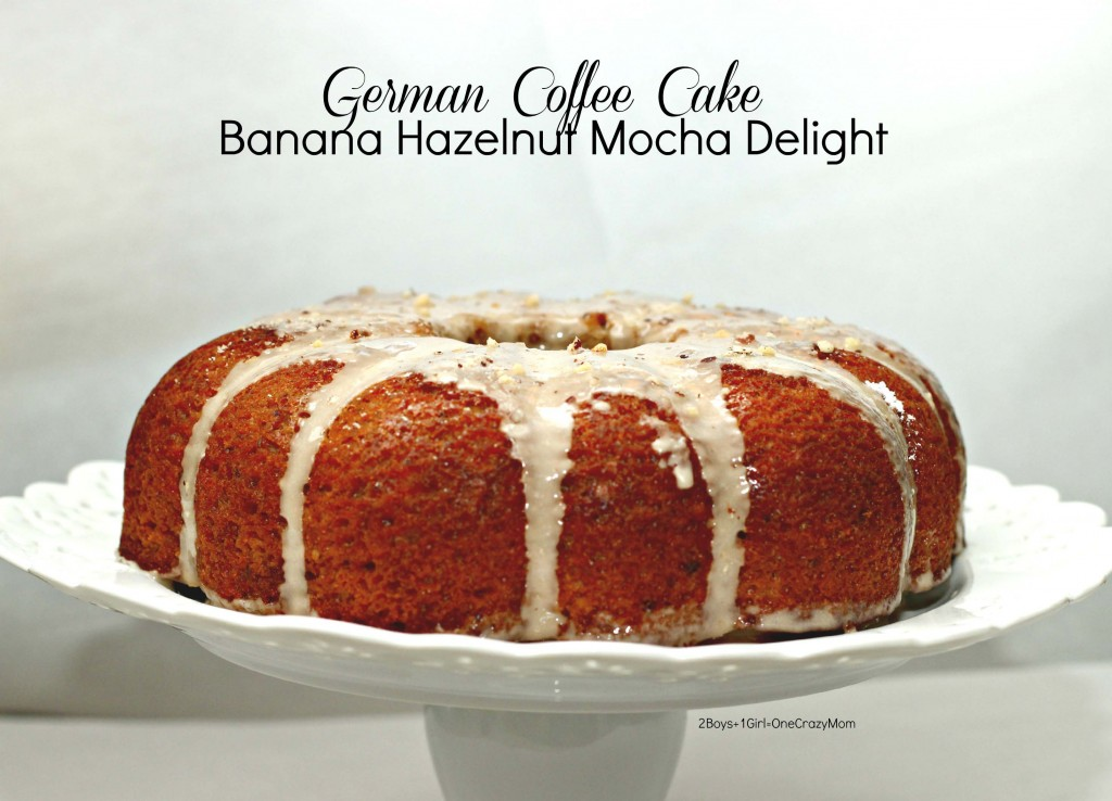Try my German Banana Hazelnut Mocha Delight Coffee Cake it is a secret family #recipe