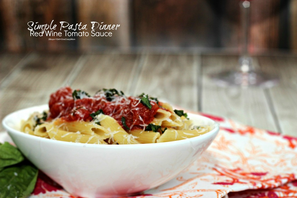 Simple Pasta Dish with Red Wine Tomato Sauce #Recipe