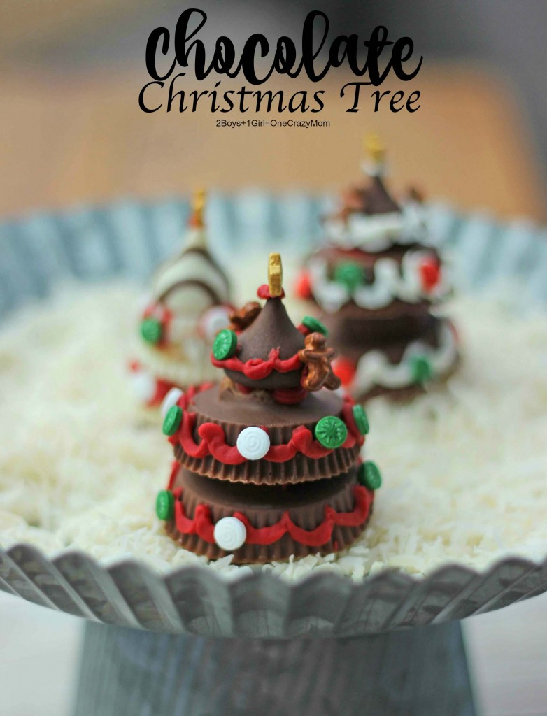 Kids love these super easy Chocolate Christmas Trees