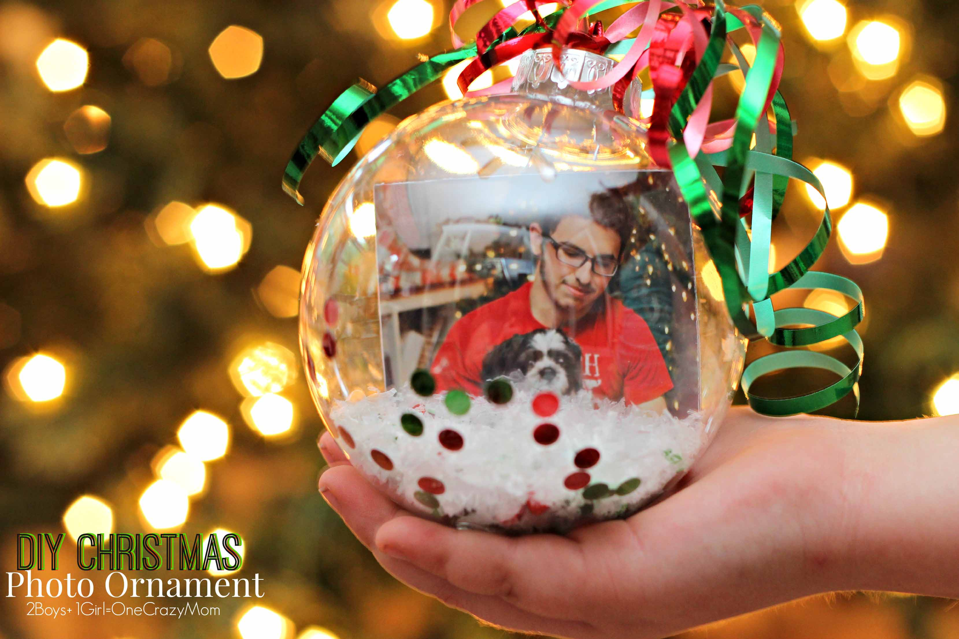 Diy christmas photo ornaments are the perfect gift idea How to make your own ornaments ideas