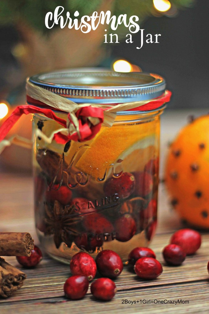 Simple Christmas in a Mason Jar