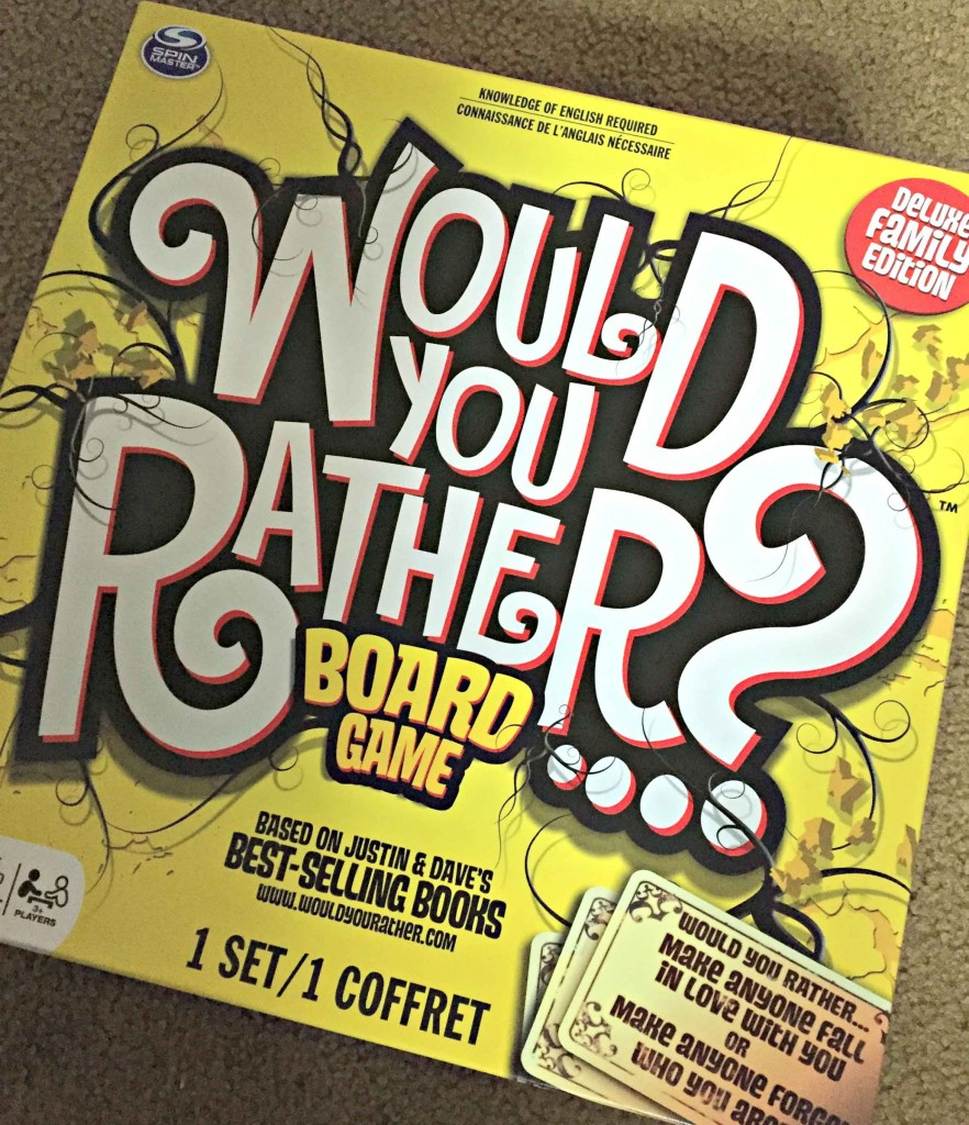 Slow down and enjoy a fun Family Game Night with #WouldYourRather