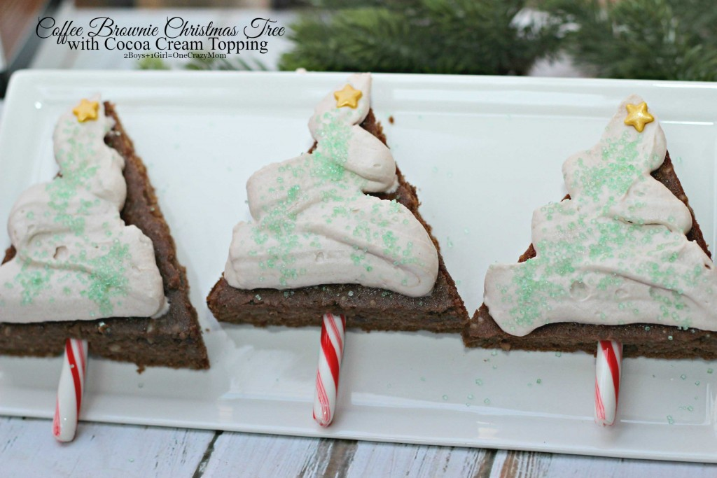 Enjoy a Coffee Brownie Christmas Tree this Holiday Season