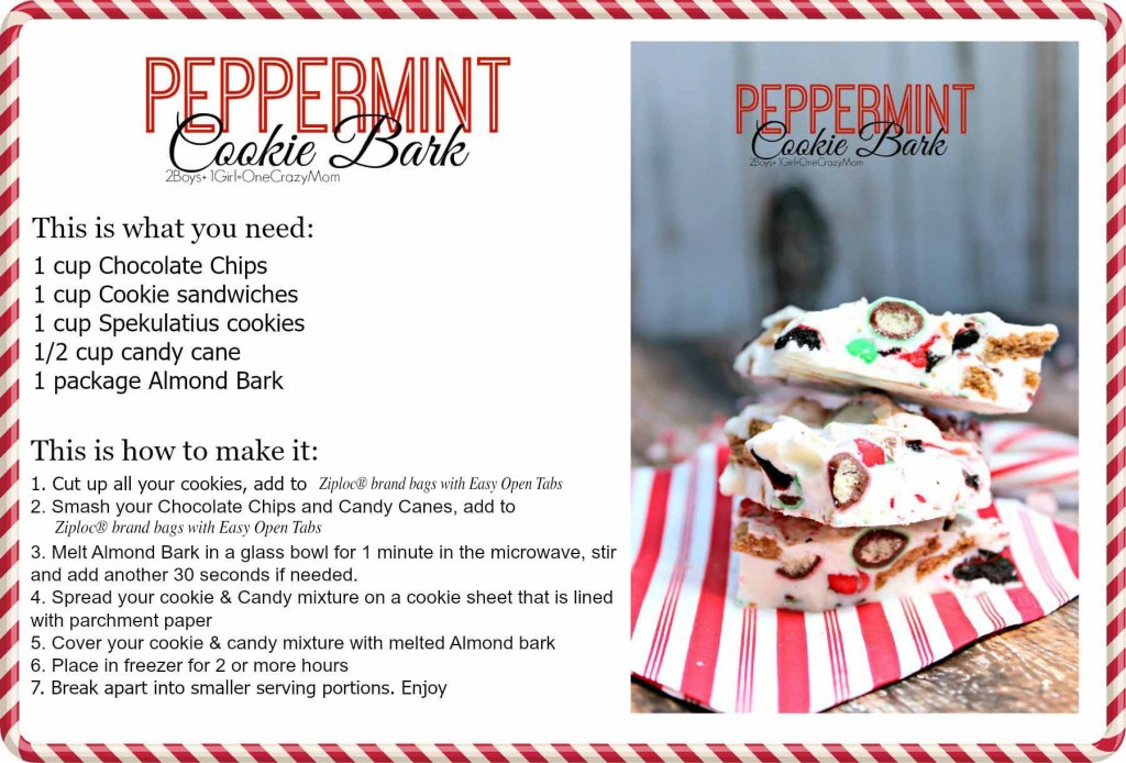 Peppermint Cookie Bark #Recipe Card