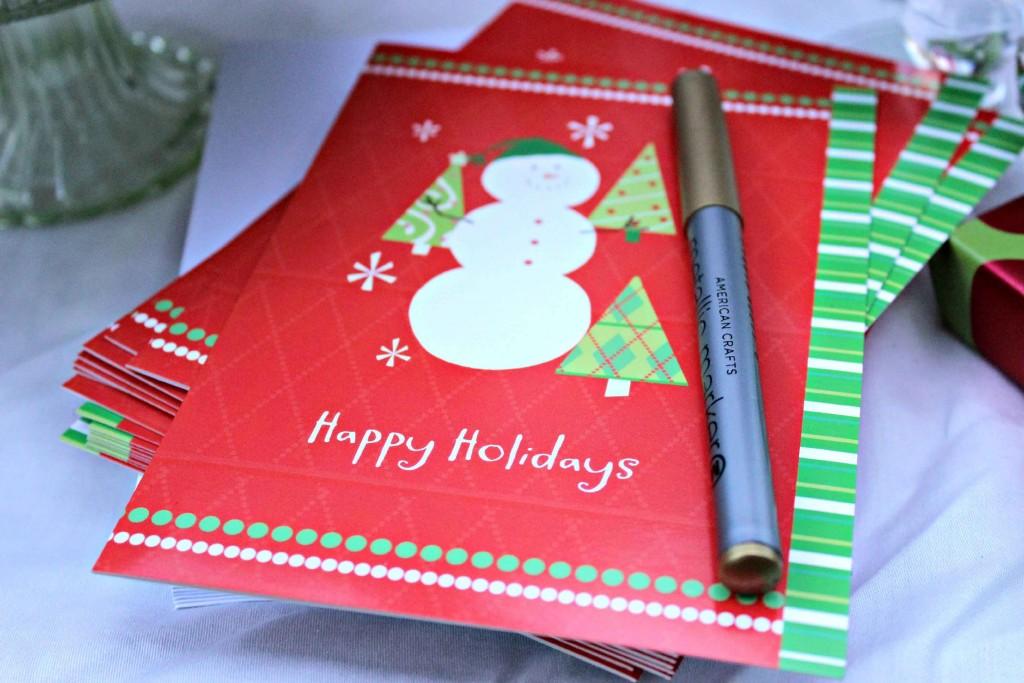 a card writing part this holiday season would be fun