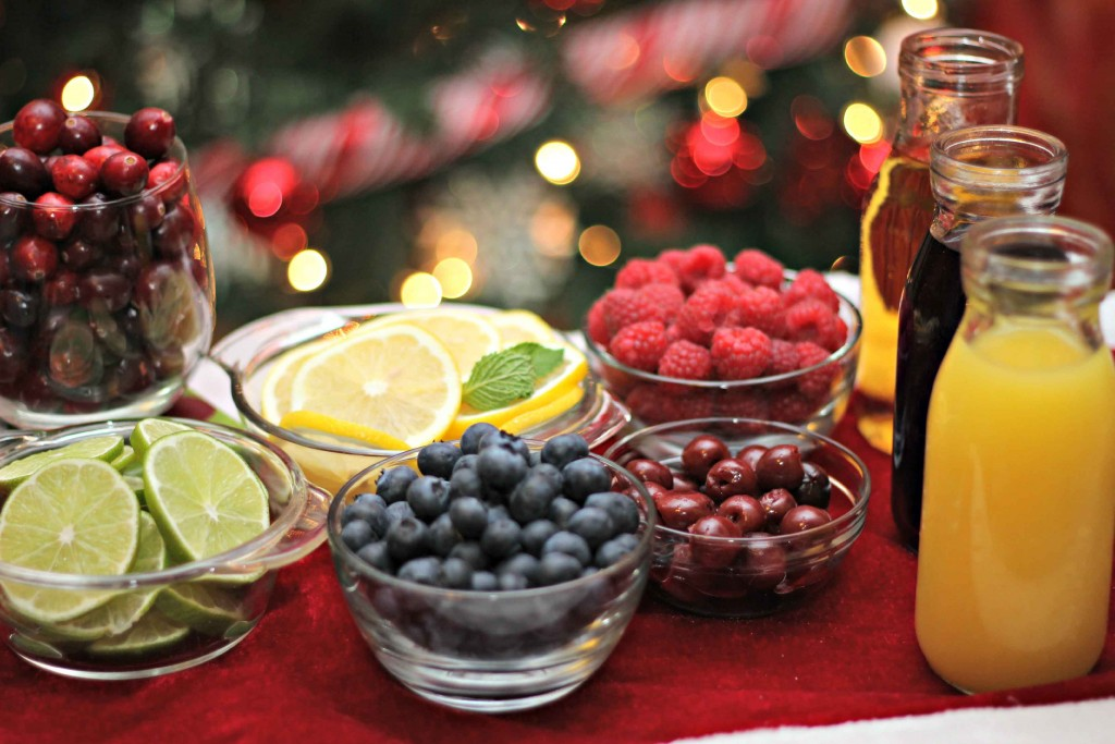 dish up a drink bar for Christmas parties #WaterMadeExciting