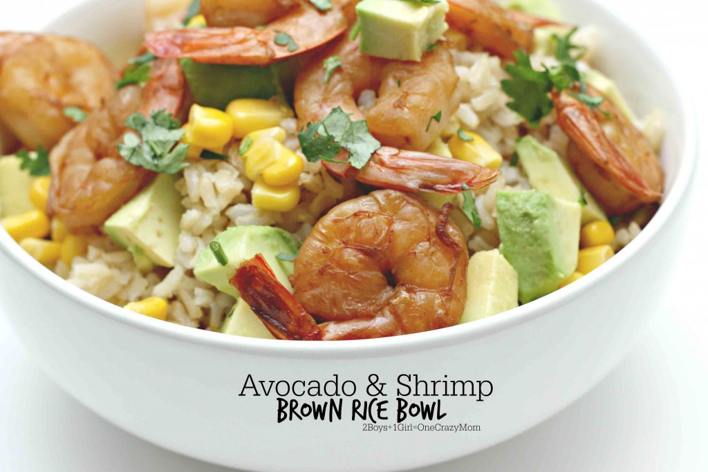 Avocado and Shrimp Rice Bowl Dinner idea