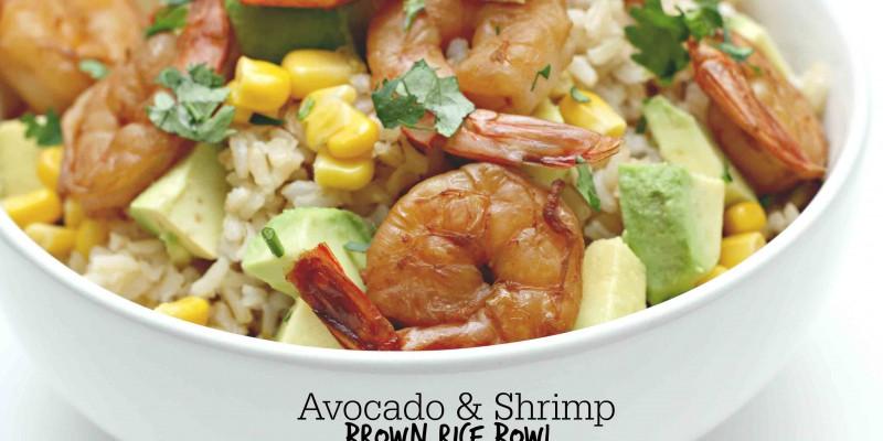 Avocado and Shrimp Rice Bowl Dinner idea