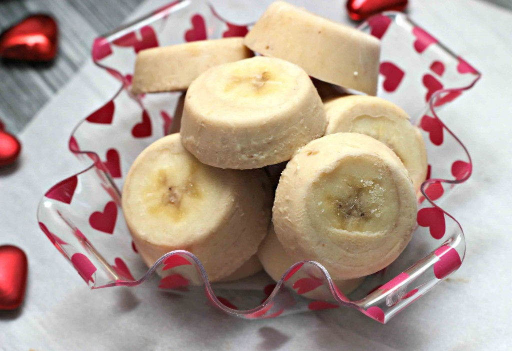 Create frozen banana Peanut yogurt treats #Recipe for dogs or kids all healthy ingredients