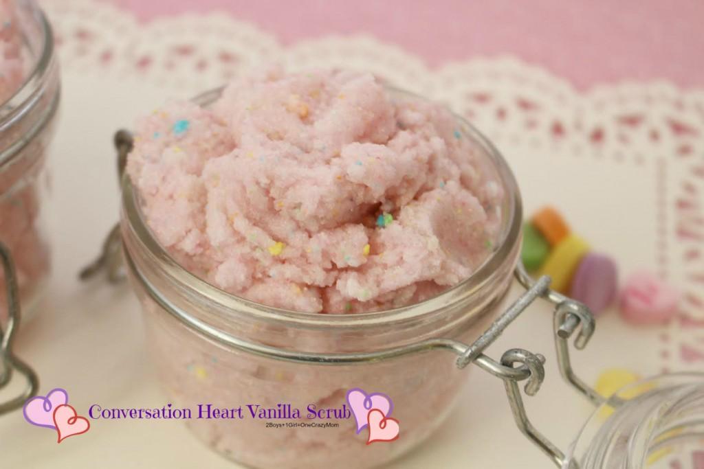 Conversation Heart Vanilla Scrub #Recipe