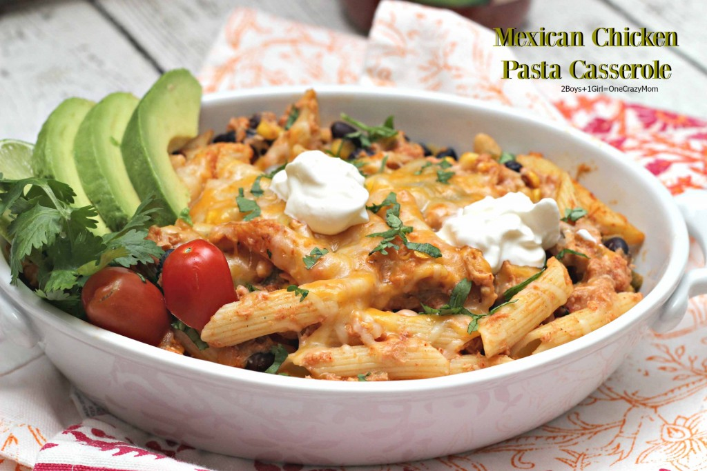 You will love this Mexican Chicken Pasta Casserole dinner # ...
