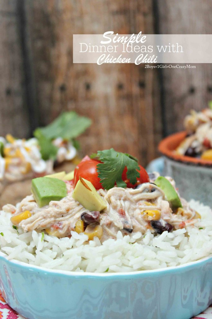Cilantro Rice and Chicken Chili #YesYouCAN