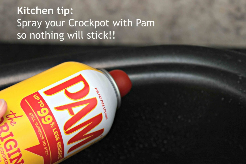 Kitchen tip spray with Pam #YesYouCAN