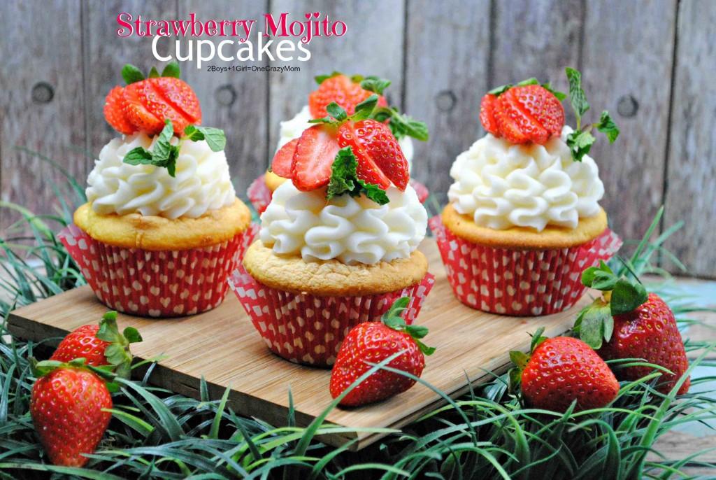 Strawberry Mojito Cupcake #Recipe