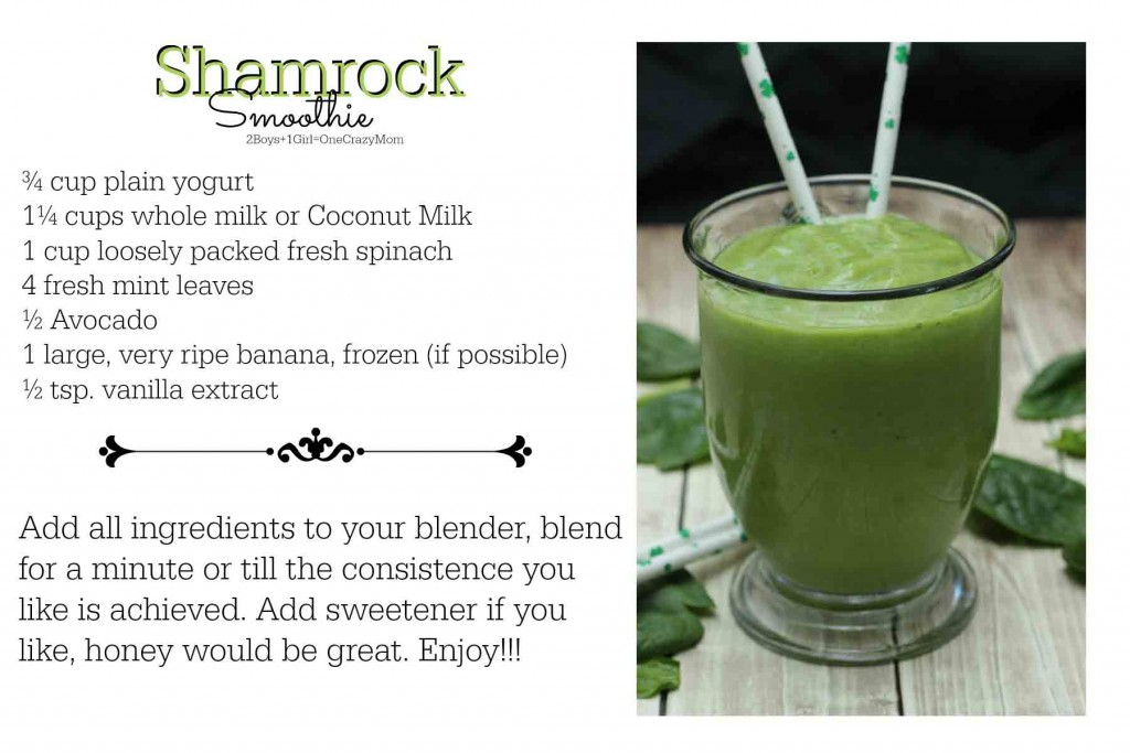Shamrock Smoothie #Recipe Card